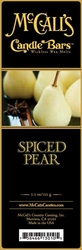 Spiced Pear McCall's Candle Bar   Candle Bars by McCall's