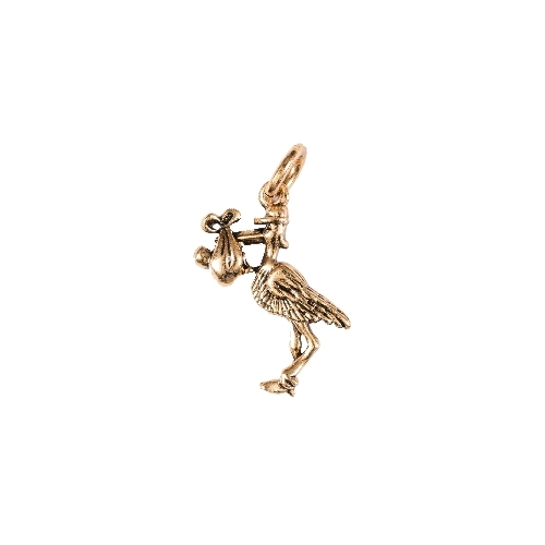 Stork Gold Charm by Beaucoup Designs