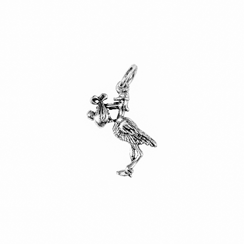 Stork Silver Charm by Beaucoup Designs
