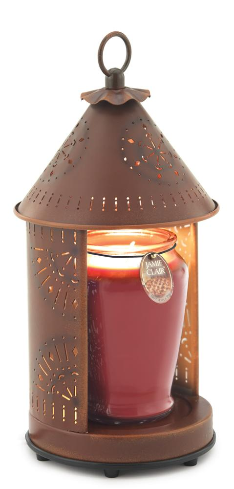 Sunshine Rustic Tin Punched Candle Warmer Lantern