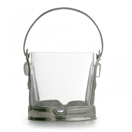 Taverna Crystal Ice Bucket with Handle - Arte Italica