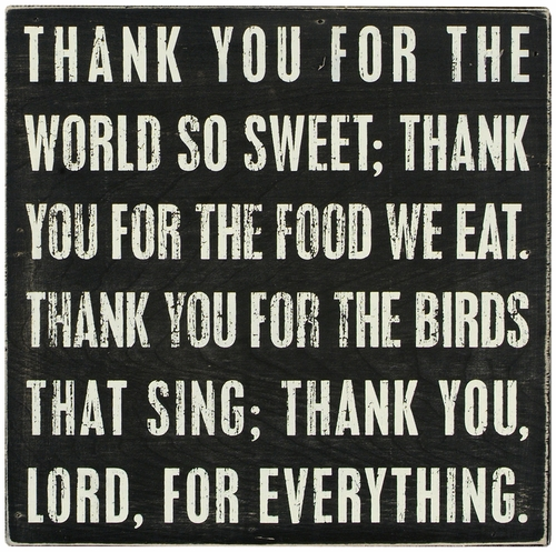 Thank You Lord Box Sign - Primitives by Kathy
