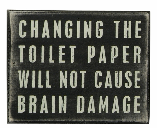 Toilet Paper Box Sign - Primitives by Kathy