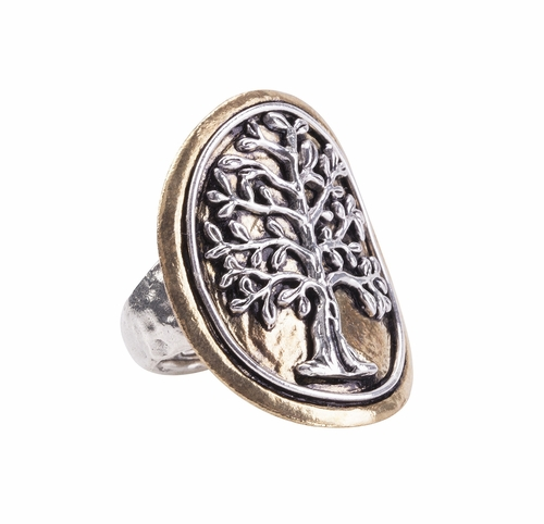 Tree of Life Medallion Ring - Medium