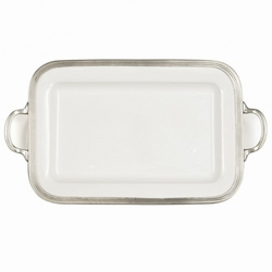 Tuscan Rectangular Tray with Handles - Arte Italica
