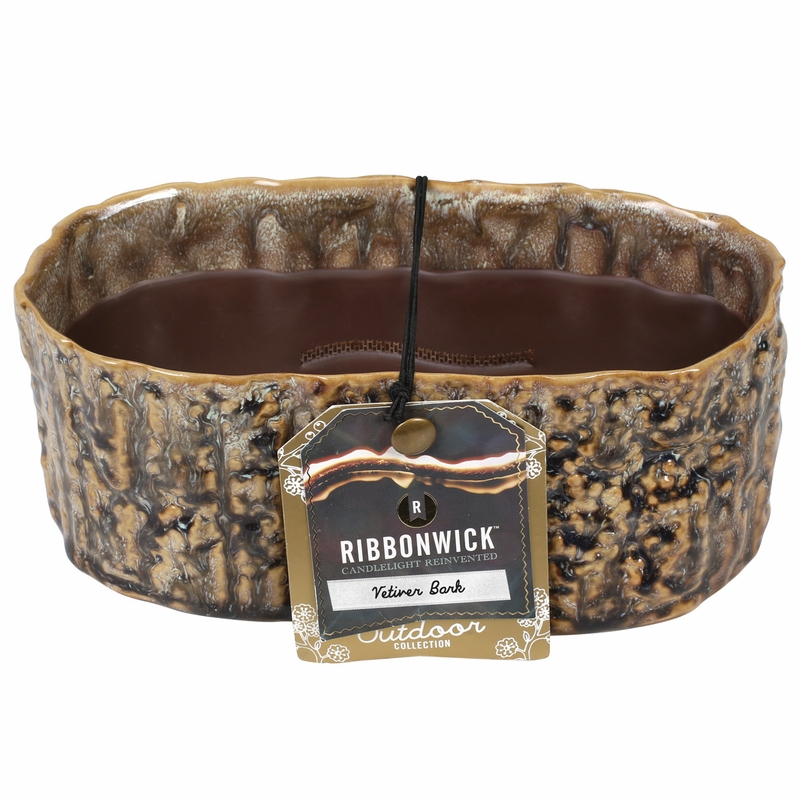 Vetiver bark medium oval ribbonwick candle for Candle painting medium