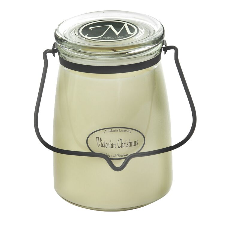 Christmas Tree Shop Waterford Ct Hours: Victorian Christmas 22 Oz. Butter Jar Candle By Milkhouse