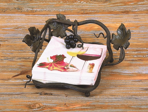Vineyard Outdoor Luncheon Napkin Holder by Bella Toscana