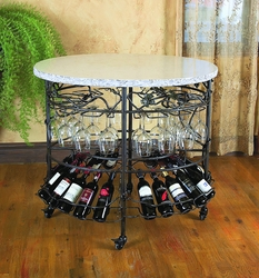 Vineyard Oval Celebration Table by Bella Toscana