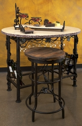 Vineyard Oval Wine Tasting Table by Bella Toscana