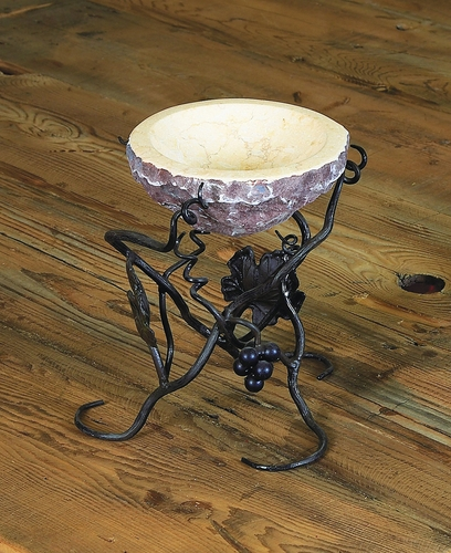 Vineyard Raised Marble Bowl Server by Bella Toscana