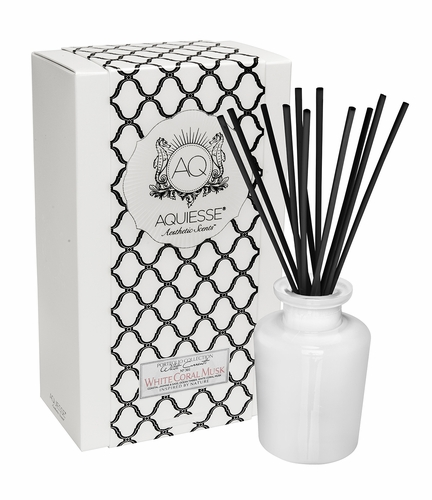 White Coral Musk Reed Diffuser Set by Aquiesse