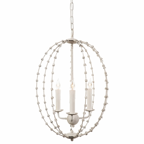 White Falling Leaves Oval Chandelier by Aidan Gray