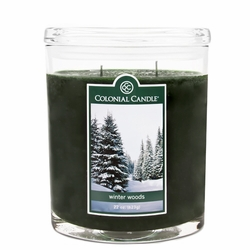 Winter Woods 22 oz. Oval Jar Colonial Candle