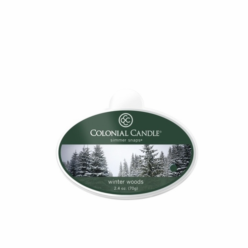 Winter Woods Simmer Snaps Colonial Candle