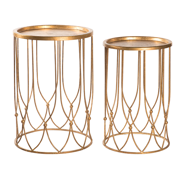 Wish bone side tables set by aidan gray for Table 6 in as 3725