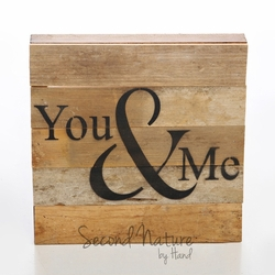 "You & Me 10"" x 10"" Wall Art - Original Wood - Second Nature By Hand"