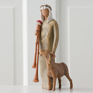 Zampognaro (Shepherd With Bagpipe) Figurine by Willow Tree