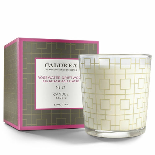 No. 21 Rosewater Driftwood 8.1 oz. Candle by Caldrea