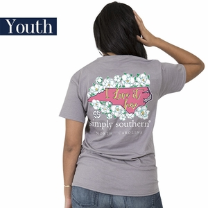 North Carolina I Love it Here Short Sleeve Tee - YOUTH by Simply Southern