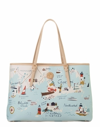 Northeastern Harbors Tote - Oh So Witty Spartina 449