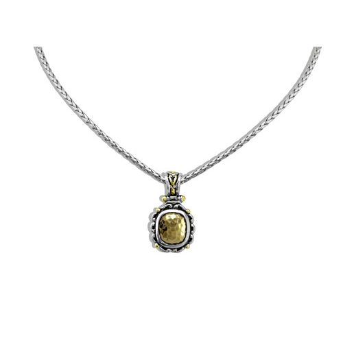 Nouveau Simplicity Hammered Antique Oval Slider With Chain by John Medeiros