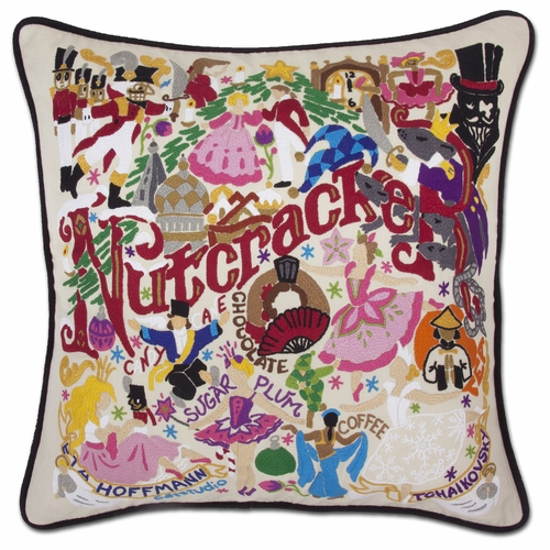 Nutcracker XL Hand-Embroidered Pillow by Catstudio (Special Order)