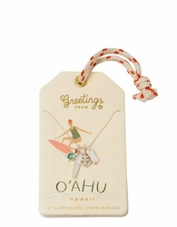 O'ahu Silver Charm Necklace - Oh So Witty by Spartina 449