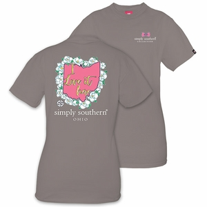 Ohio I Love it Here Short Sleeve Tee by Simply Southern