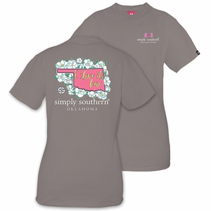 Oklahoma I Love it Here Short Sleeve Tee by Simply Southern