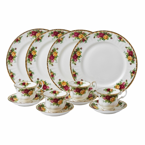 Old Country Roses 12-Piece Set by Royal Albert - Special Order
