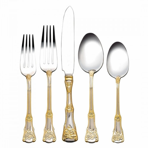 Old Country Roses 20-Piece Flatware Set by Royal Albert (Avail. late June)