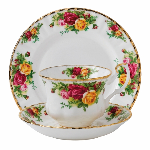 Old Country Roses 3-Piece Teacup Set by Royal Albert - Special Order