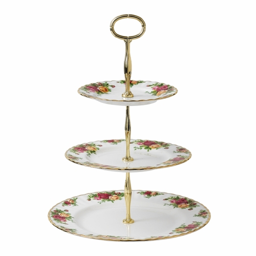 PRE-ORDER - Available July - Old Country Roses 3-Tier Cake Stand by Royal Albert - Special Order