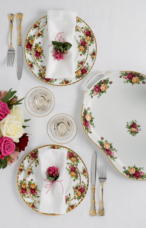 & PRE-ORDER - Old Country Roses 65-Piece Flatware Set by Royal Albert