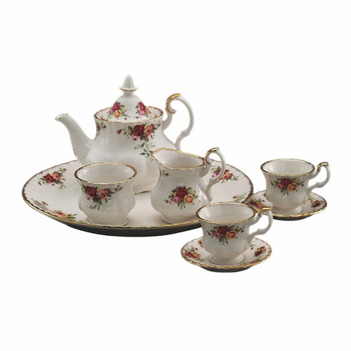 Old Country Roses 9-Piece Le Petite Mini Tea Set by Royal Alber - Special Order