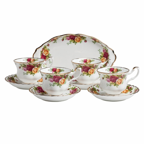 Old Country Roses 9-Piece Tea Set by Royal Albert - Special Order