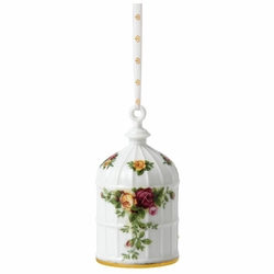 Old Country Roses Birdcage Holiday Ornament by Royal Albert