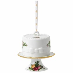 Old Country Roses Cake on Stand Holiday Ornament by Royal Albert