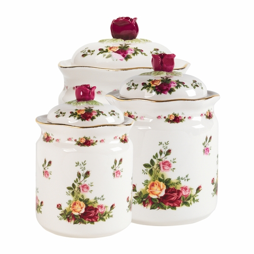 Old Country Roses Canisters - Set of 3 - by Royal Albert