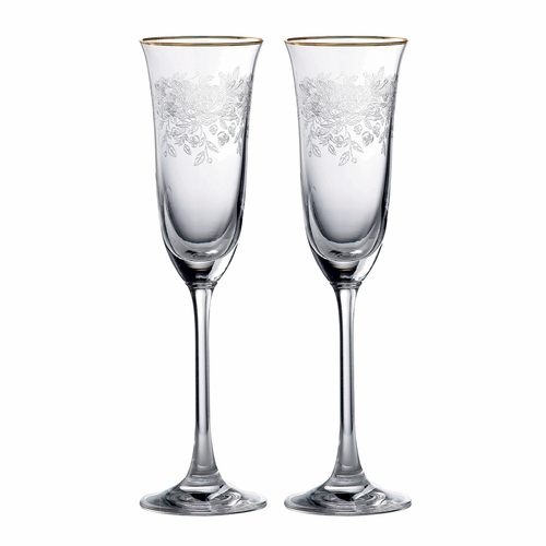 PRE-ORDER - Old Country Roses Champagne Flute - Set of 2 - by Royal Albert - Special Order ( Available April 2020)