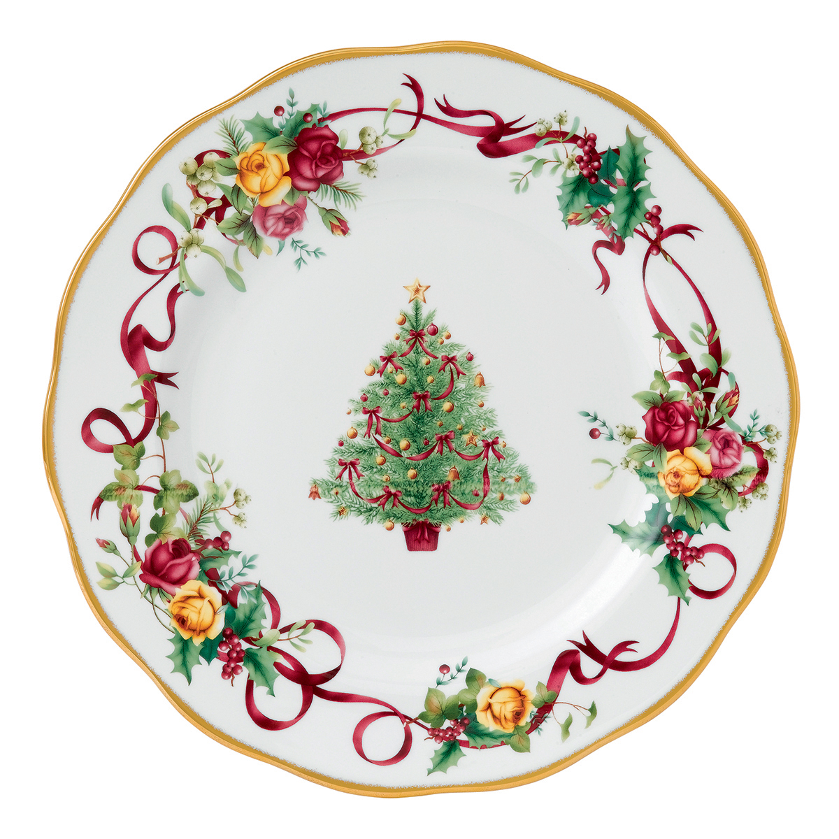 PRE-ORDER - Old Country Roses Christmas Tree Dinner Plate ...