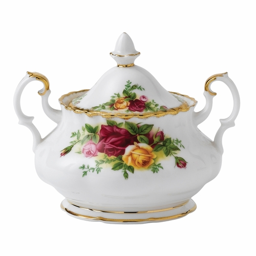 Old Country Roses Covered Sugar Dish by Royal Albert - Special Order