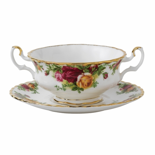 Old Country Roses Cream Soup Saucer by Royal Albert - Special Order