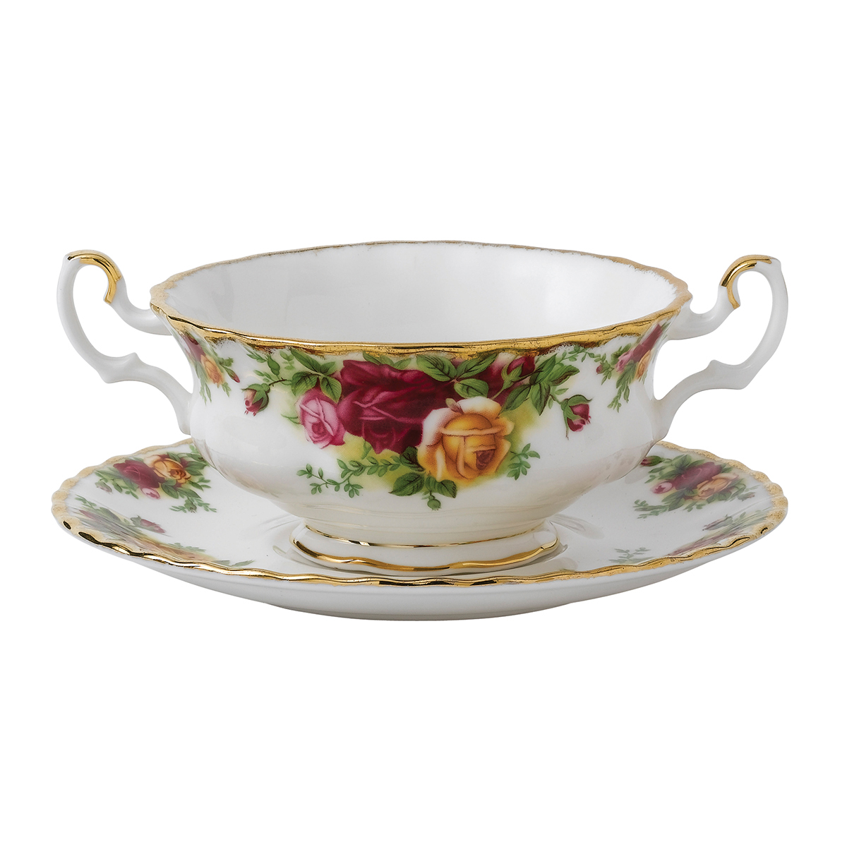 Old Country Roses Cream Soup Saucer By Royal Albert