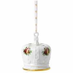 Old Country Roses Crown Holiday Ornament by Royal Albert