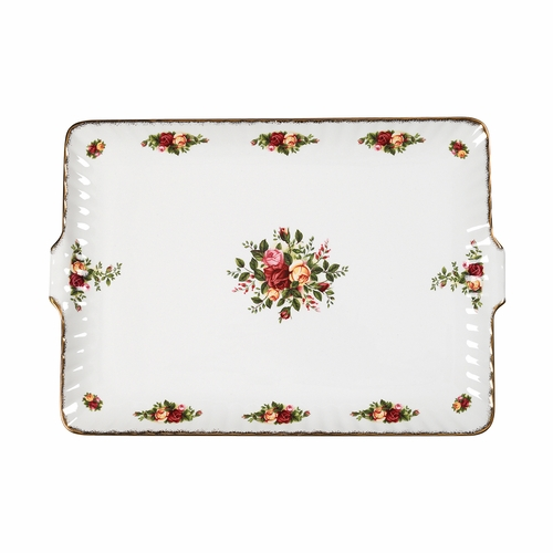 Old Country Roses Fluted Serving Tray by Royal Albert - Special Order