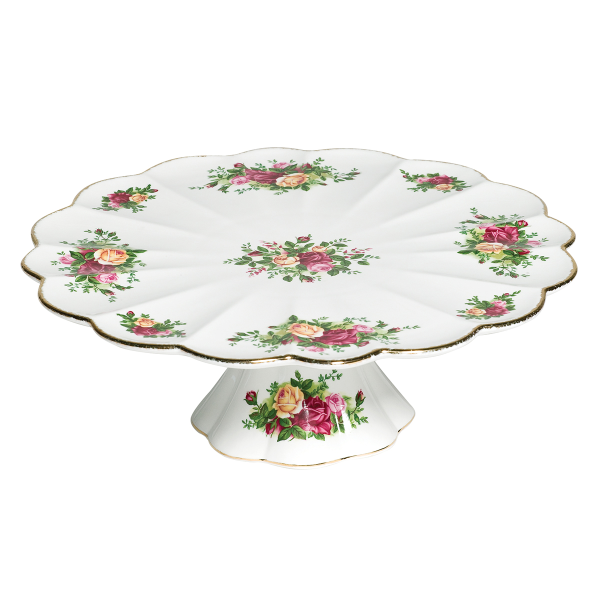 Old Country Roses Footed Cake Plate By Royal Albert