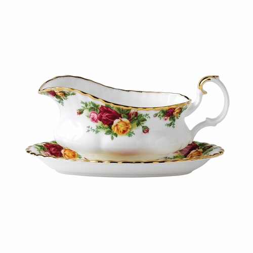 Old Country Roses Gravy Boat by Royal Albert