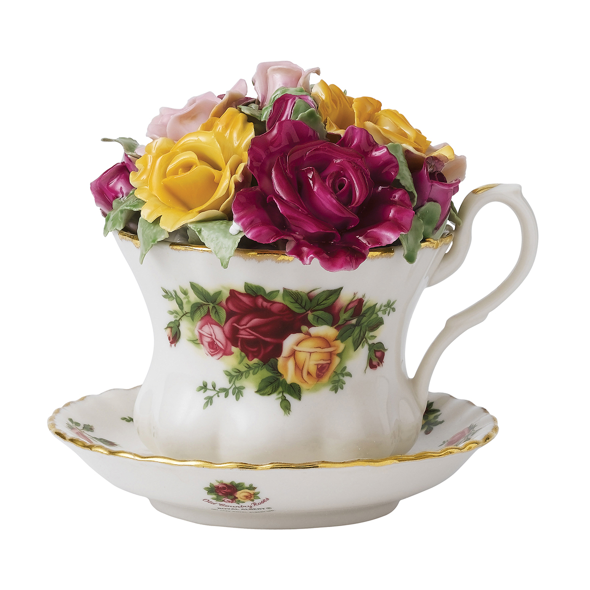 Old Country Roses Musical Teacup By Royal Albert
